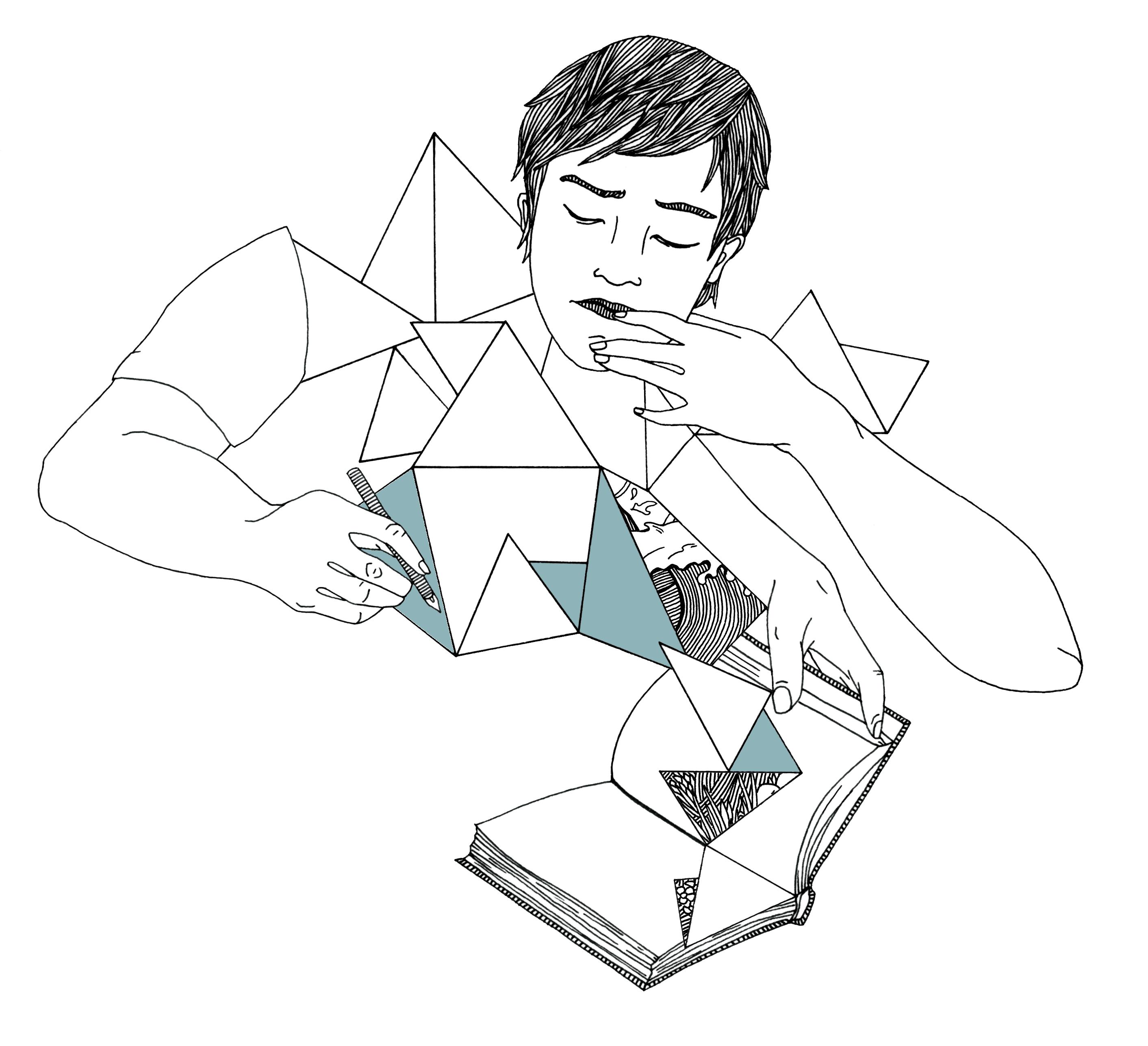 Illustration zeichnender Mann